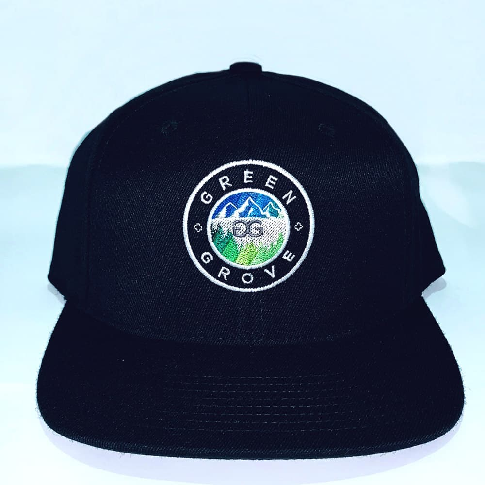 front of green grove hat