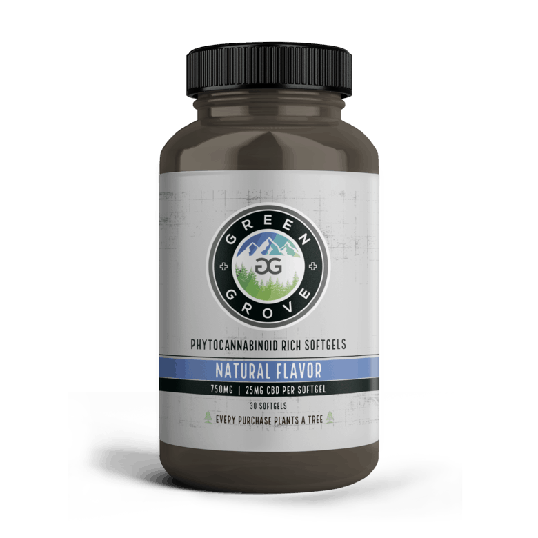 Green Grove 2_Softgels_NF_25mg_Front_Amber Bottle_1000x1000