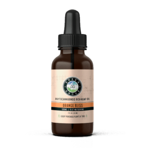 Front of Bottle of Green Grove 500mg Orange flavored CBD oil Tincture
